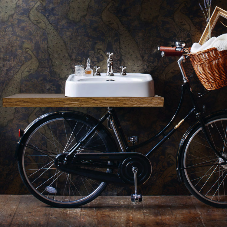 Arcade Pashley Bicycle with 600mm 3 Tap Hole Basin and Mixer Tap (shelf not included) Profile Large
