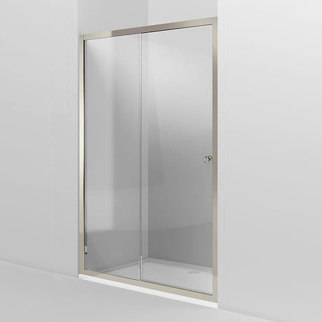 Arcade Single Slider Shower Door - Nickel - 2 x Size Options