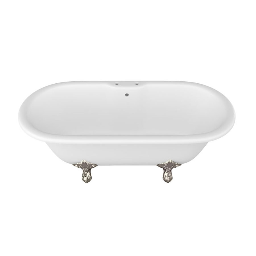 Arcade Vigo Freestanding Natural Stone Bath with Traditional Legs - 1690 x 800mm Feature Large Image