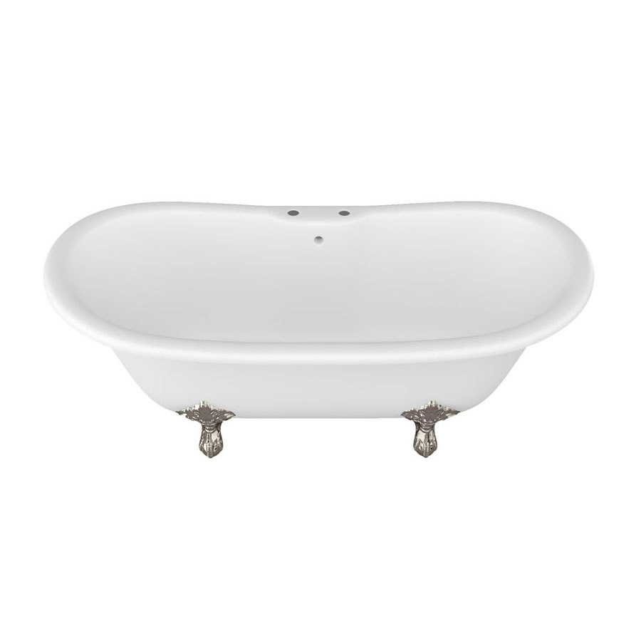 Arcade Vine Freestanding Natural Stone Bath with Traditional Legs - 1690 x 800mm Feature Large Image