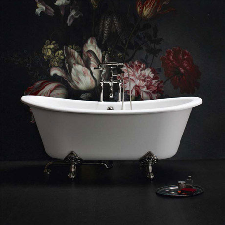 Arcade Vine Freestanding Natural Stone Bath with Traditional Legs - 1690 x 800mm