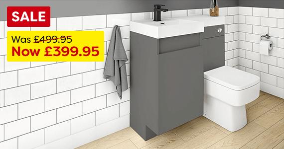 Arezzo Grey Combo Bathroom Suite