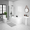Arezzo Modern 1700 Shower Bath Suite profile small image view 1