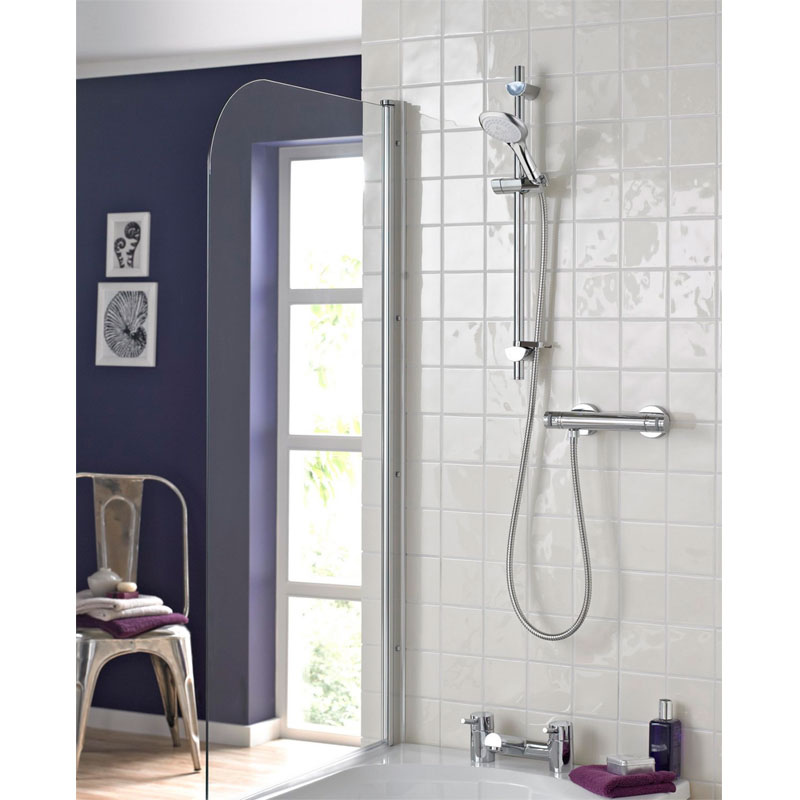 Bristan - Artisan Thermostatic Surface Mounted Bar Shower Valve with Adjustable Riser Profile Large Image