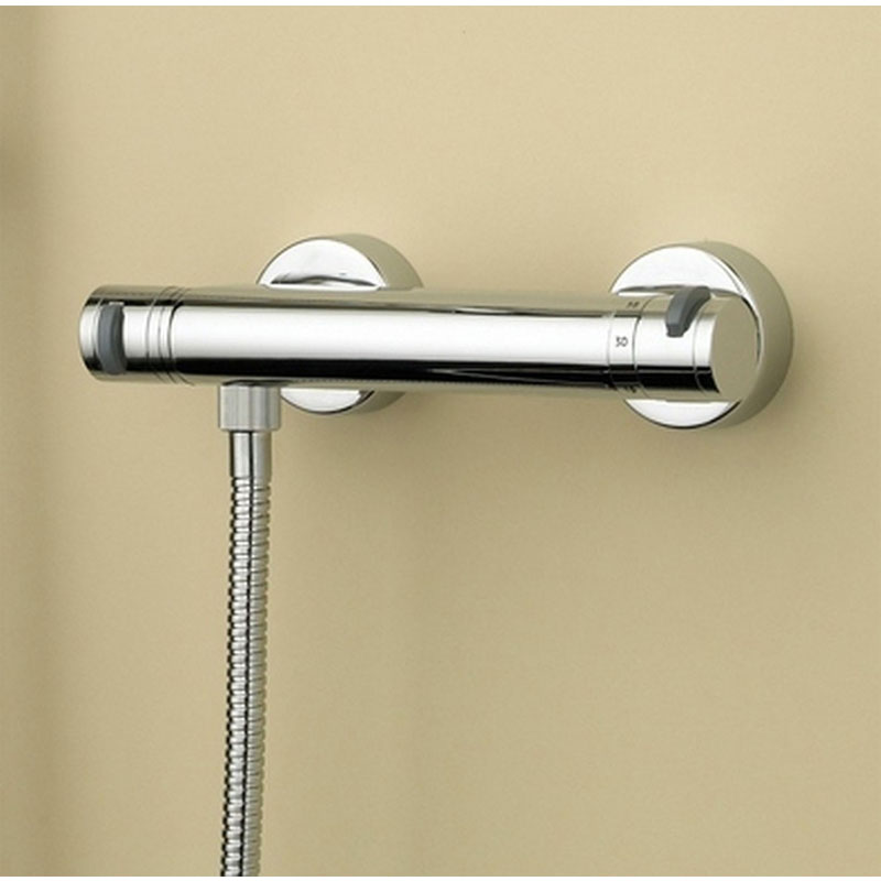 Bristan Artisan Thermostatic Surface Mounted Bar Shower Valve + Adjustable Riser profile large image view 2