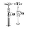 Ashford Chrome Angled Traditional Radiator Valves Small Image