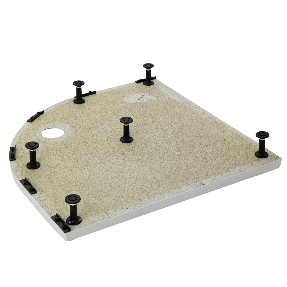 Aurora Pearlstone Quadrant Shower Tray & Riser Kit Feature Large Image