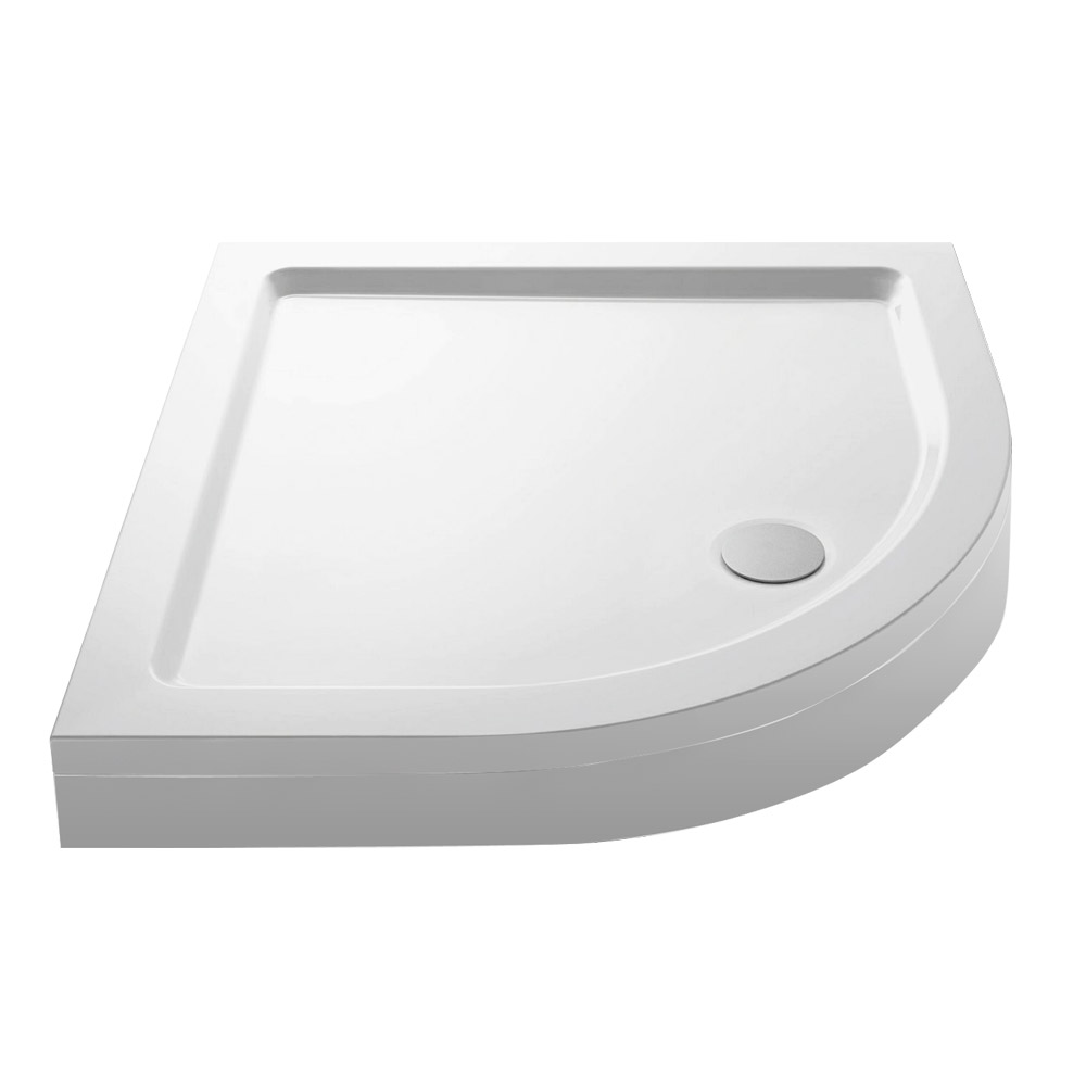 Aurora Pearlstone Quadrant Shower Tray & Riser Kit Large Image