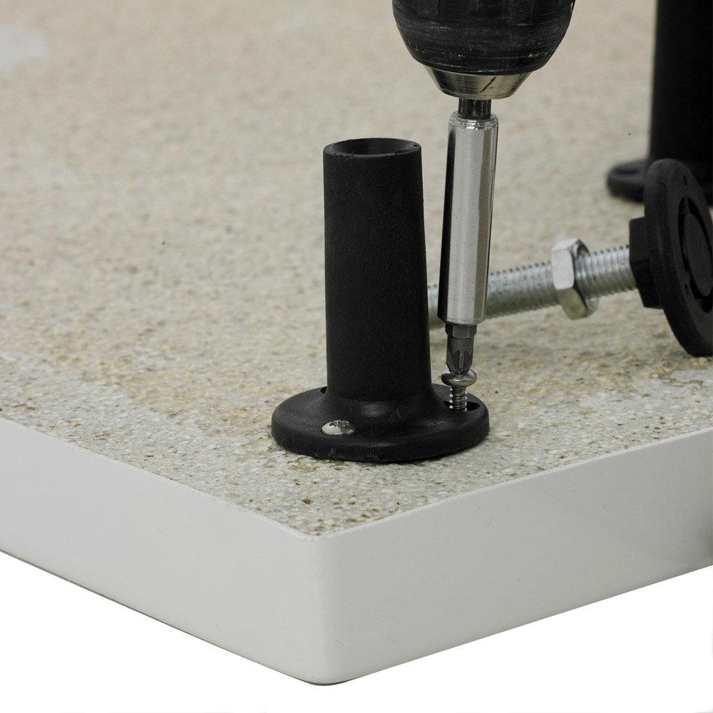 Aurora Pearlstone Rectangular Shower Tray & Riser Kit Profile Large Image
