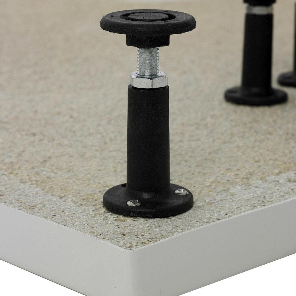 Aurora Pearlstone Rectangular Shower Tray + Riser Kit profile large image view 3