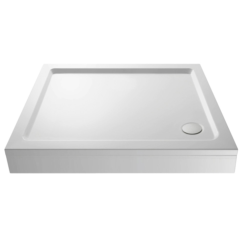 Aurora Pearlstone Rectangular Shower Tray & Riser Kit Large Image