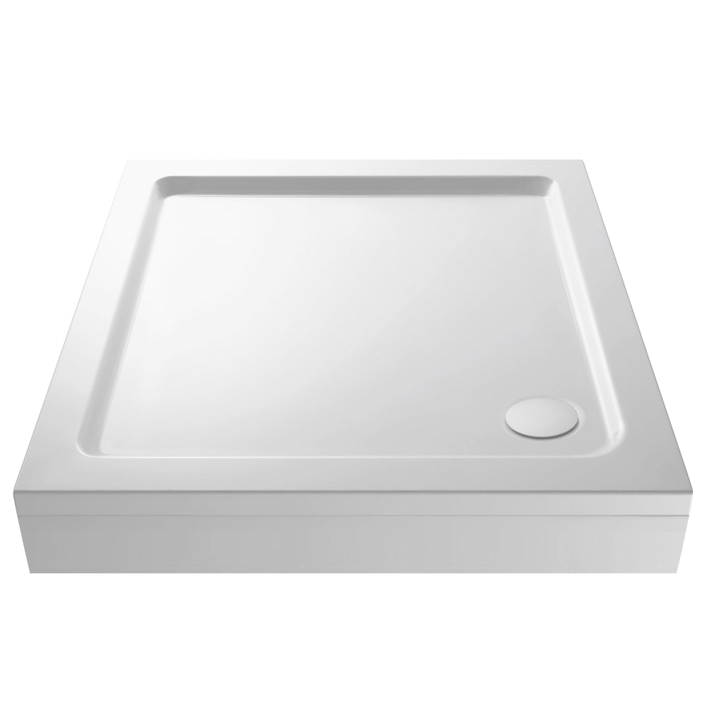 Aurora Pearlstone Square Shower Tray & Riser Kit Large Image