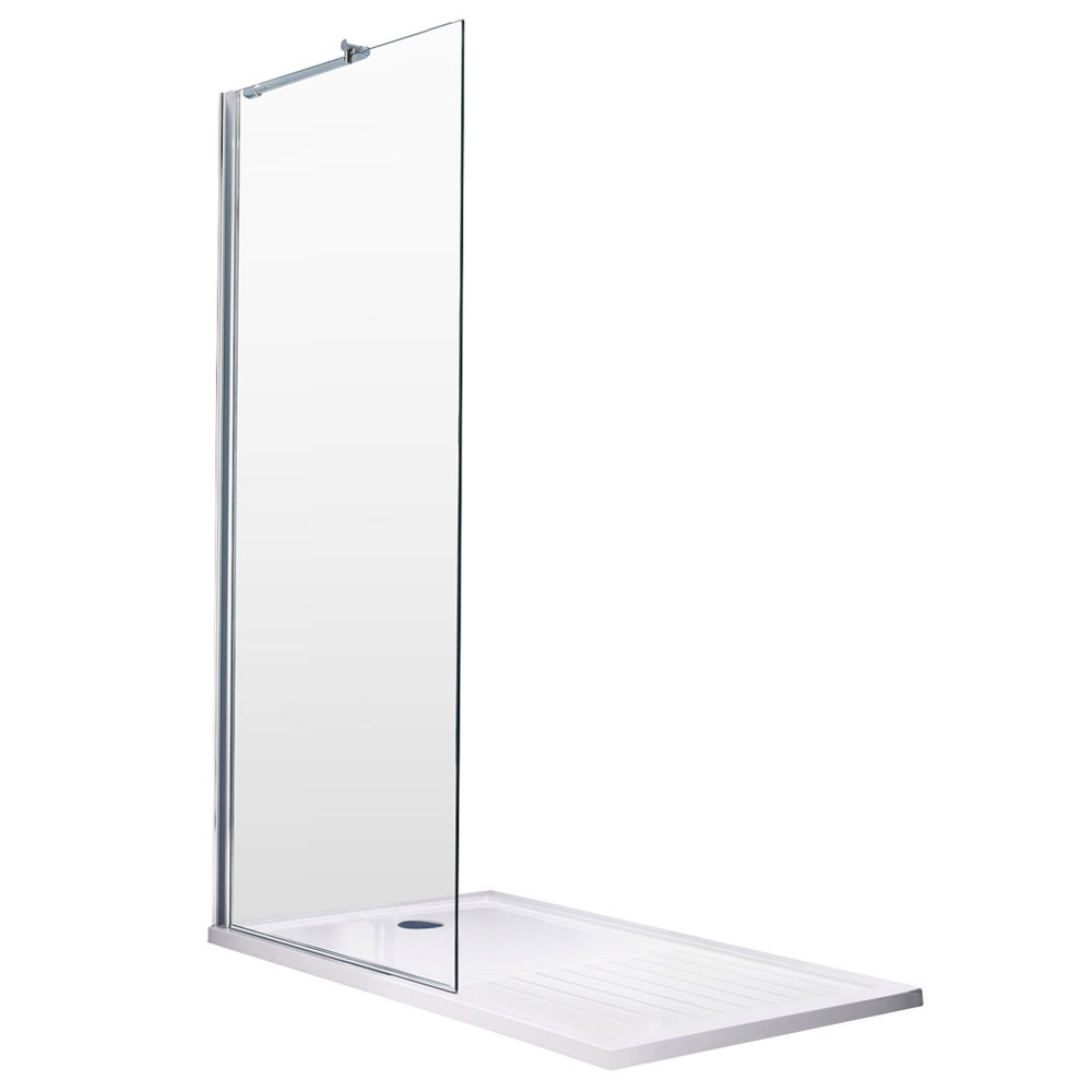 Aurora Walk In Shower Enclosure 8mm & Tray (1700 x 800mm) Standard Large Image
