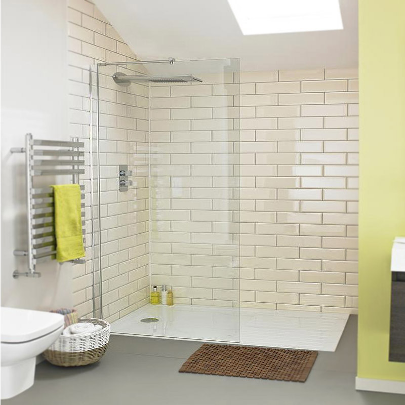 Aurora Walk In Shower Enclosure 8mm & Tray (1700 x 800mm) Large Image