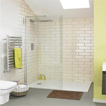 Aurora Walk In Shower Enclosure 8mm & Tray (1400 x 900mm) Medium Image