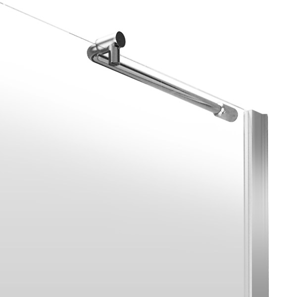 Aurora Walk In Shower Enclosure with Return Panel 8mm & Tray (1400 x 900mm) Standard Large Image