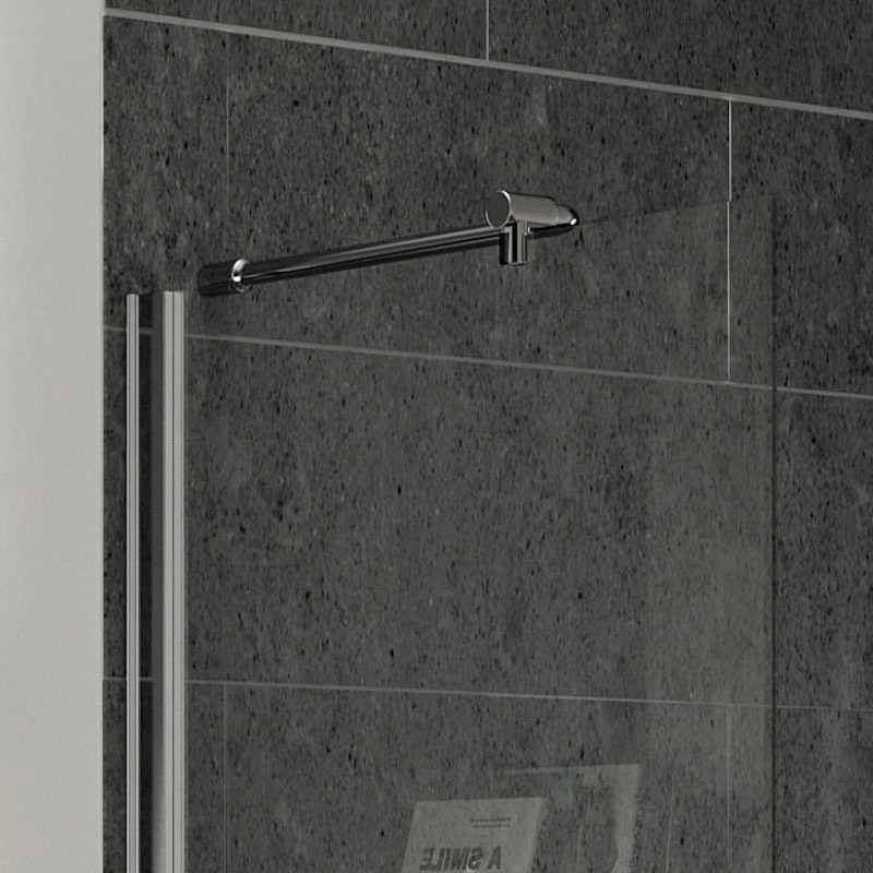 Aurora Walk In Shower Enclosure with Side Panel 8mm & Tray (1600 x 800mm) profile large image view 4