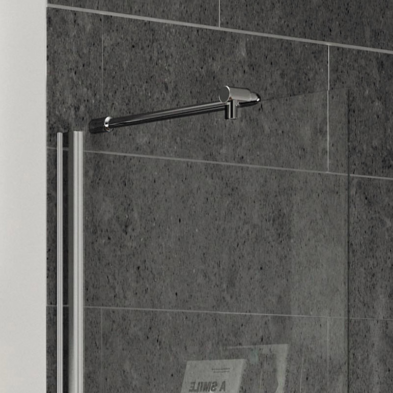 Aurora Walk In Shower Enclosure with Side & Return Panel 8mm & Tray (1400 x 900mm) Feature Large Image