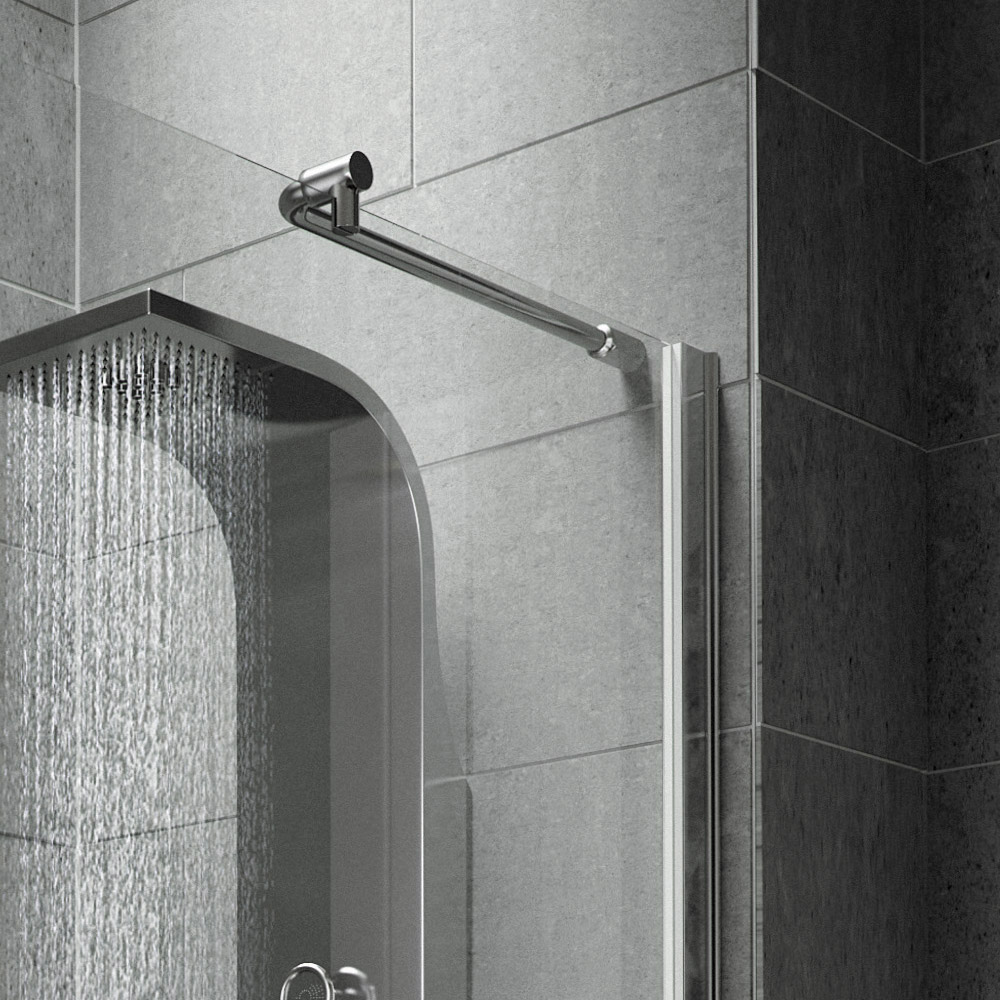Aurora Walk In Shower Enclosure with Side & Return Panel 8mm & Tray (1400 x 900mm) Standard Large Image