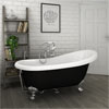 Astoria Black 1550 Roll Top Slipper Bath w. Ball + Claw Leg Set profile small image view 1