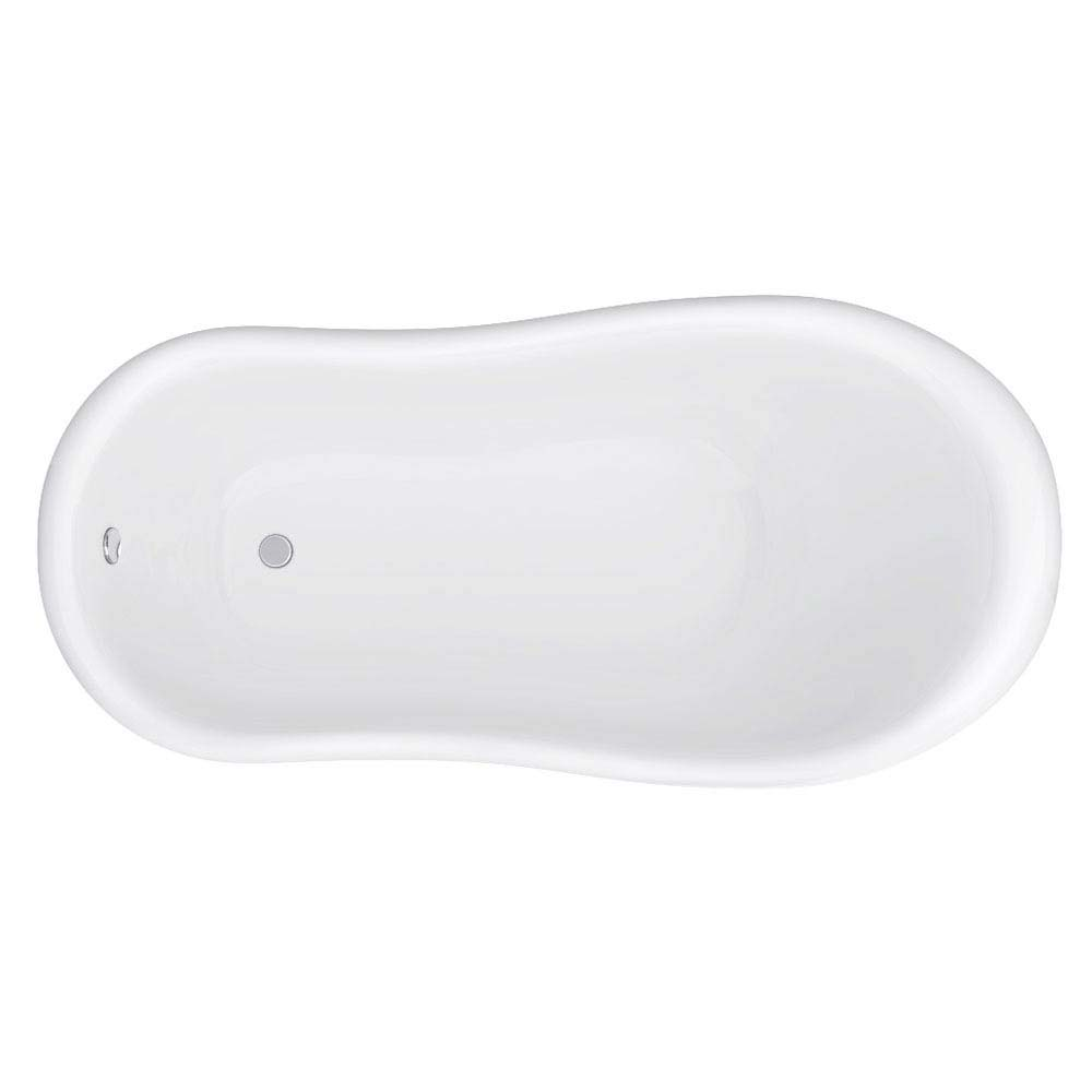 Astoria Black 1550 Roll Top Slipper Bath w. Ball + Claw Leg Set profile large image view 3