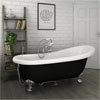 Astoria Black 1710 Roll Top Slipper Bath w. Ball + Claw Leg Set profile small image view 1