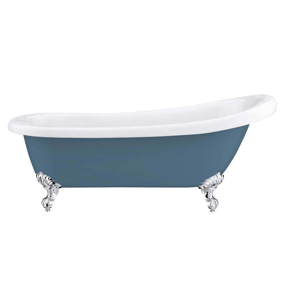 Astoria Blue 1710 Roll Top Slipper Bath w. Ball + Claw Leg Set  Profile Large Image