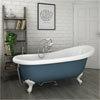 Astoria Blue 1710 Roll Top Slipper Bath w. Ball + Claw Leg Set profile small image view 1