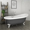 Astoria Grey 1710 Roll Top Slipper Bath w. Ball + Claw Leg Set profile small image view 1
