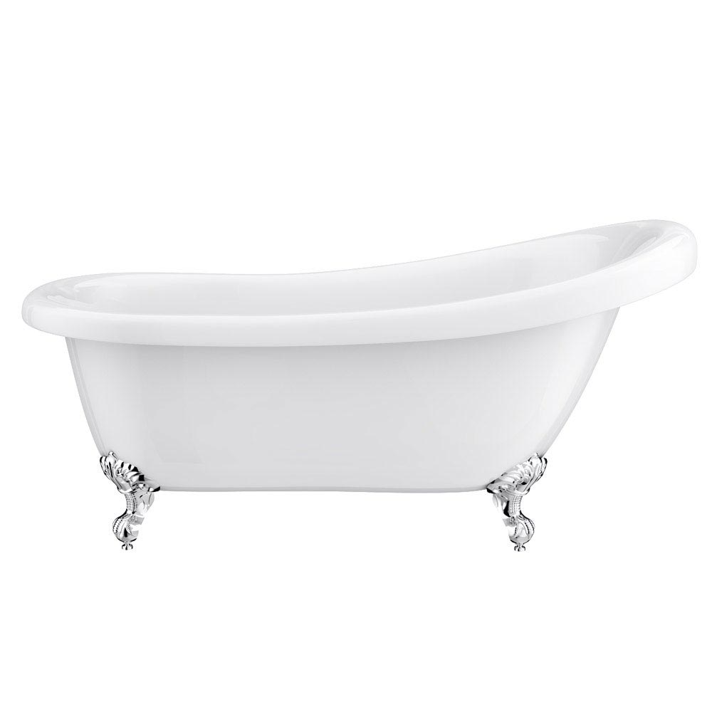 Astoria Roll Top Slipper Bath + Chrome Leg Set - 1550mm  Profile Large Image