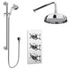 "Astoria Traditional Concealed Shower Valve Inc. 8"" Head with Arm & Slider Rail profile small image view 1"
