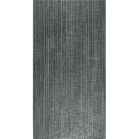 Attica Dark Grey Textured Gloss Wall Tile - 31.6 x 60cm