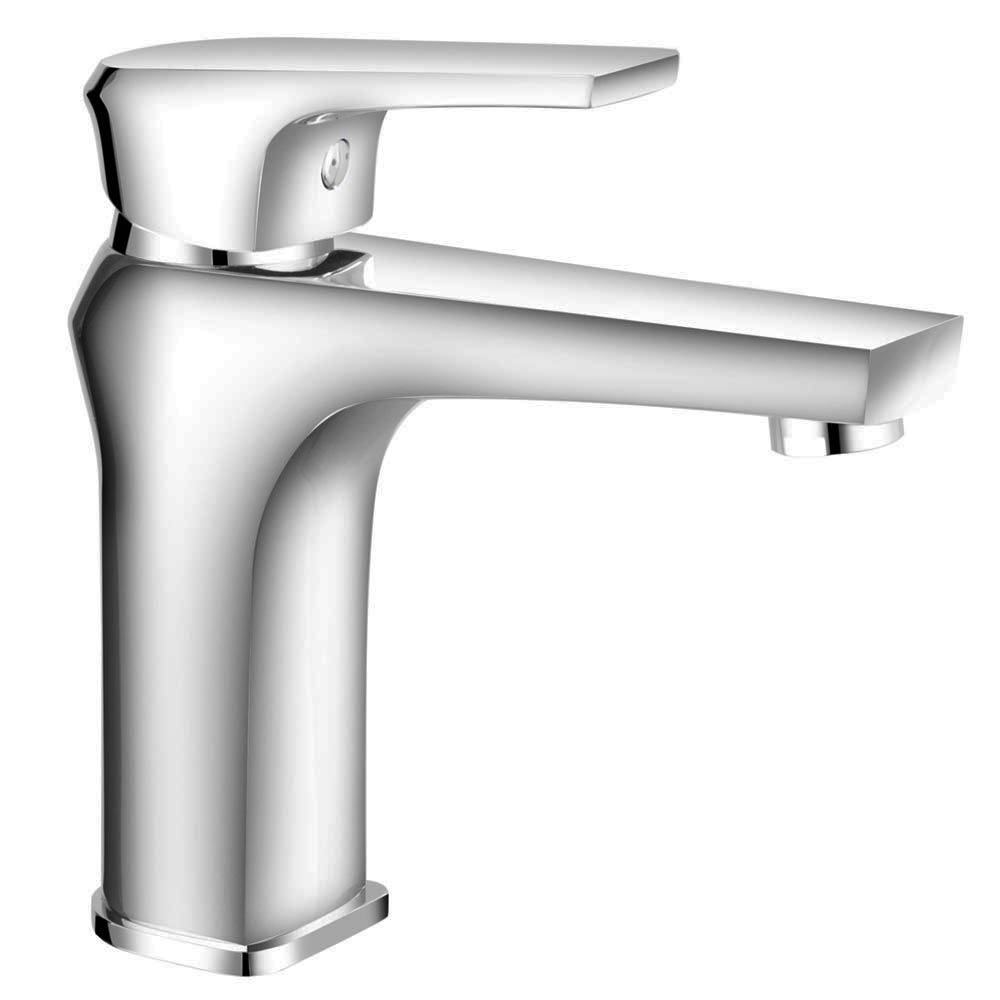 Aurora Modern Basin Tap inc Waste - Chrome Feature Large Image