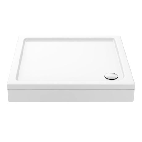Aurora Pearlstone Square Shower Tray + Riser Kit