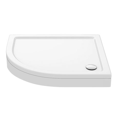 Aurora Stone LH Offset Quadrant Shower Tray + Riser Kit