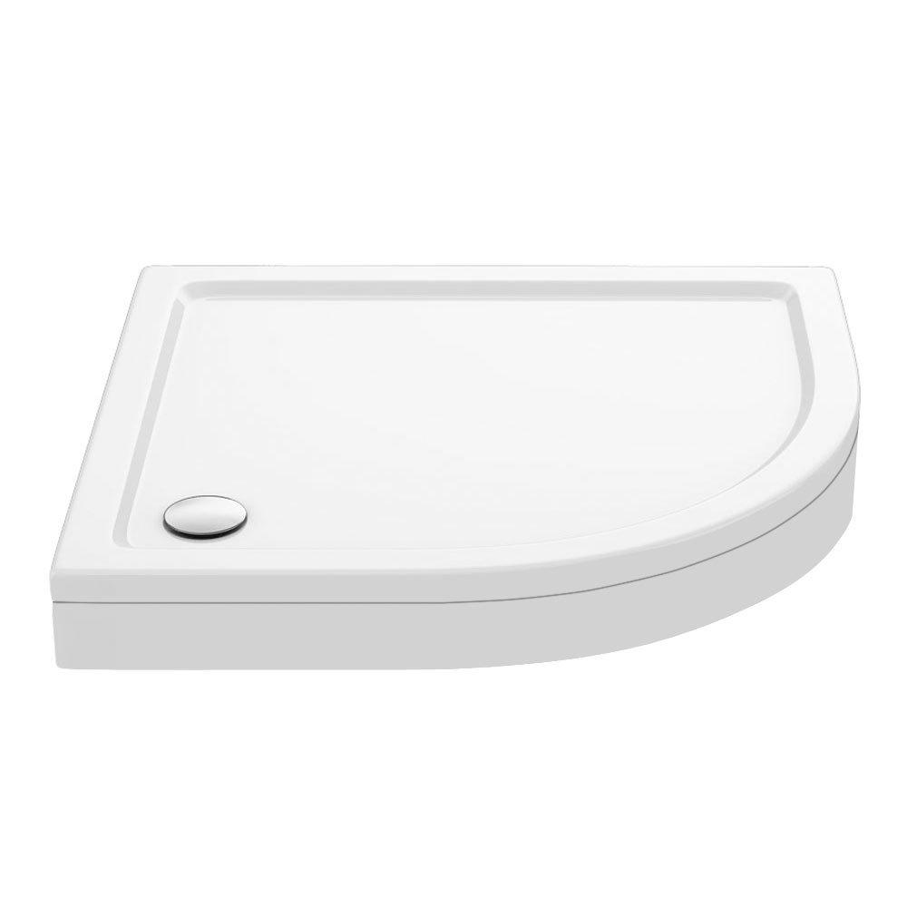 Aurora Stone RH Offset Quadrant Shower Tray + Riser Kit