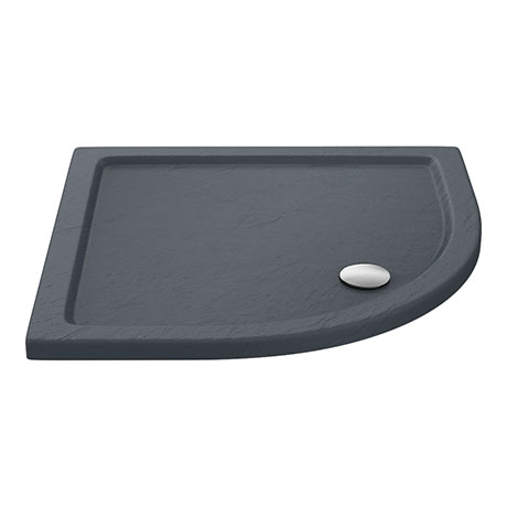 Aurora Slate Effect Stone Quadrant Shower Tray