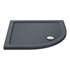Aurora Slate Effect Stone Quadrant Shower Tray profile small image view 1