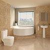 Bianco Bathroom Suite with Orlando Corner Bath profile small image view 1