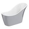 Vienna Silver 1520 Small Modern Slipper Bath profile small image view 1