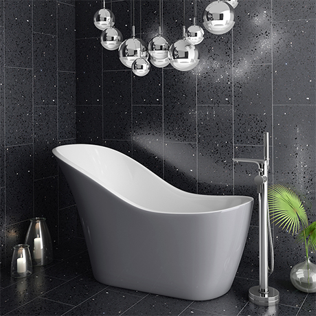 Vienna Silver 1520 Small Modern Slipper Bath