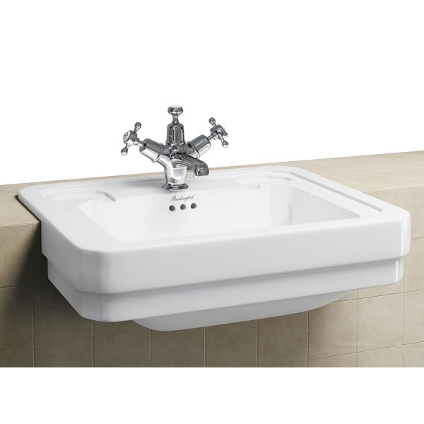 Burlington Classic Semi Recessed 58cm Basin - B12 Profile Large Image