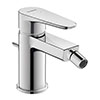 Duravit B.1 Single Lever Bidet Mixer with Pop-up Waste - B12400001010 profile small image view 1