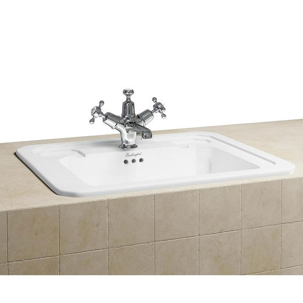 Burlington Classic 54cm Inset Basin - B13 profile large image view 1