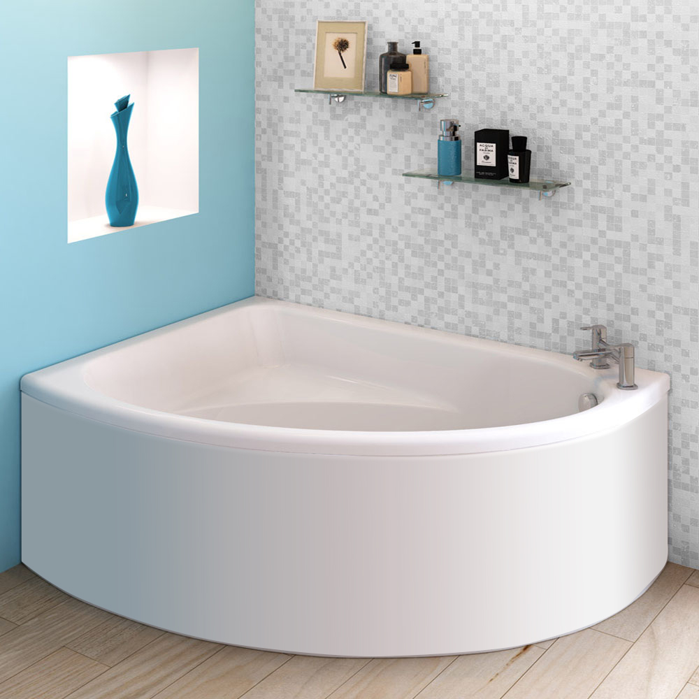 Orlando Corner Bath with Panel (Left Hand Option 1500 x 1040mm)