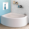 Orlando Corner Bath with Panel (Left Hand Option 1500 x 1040mm) profile small image view 1