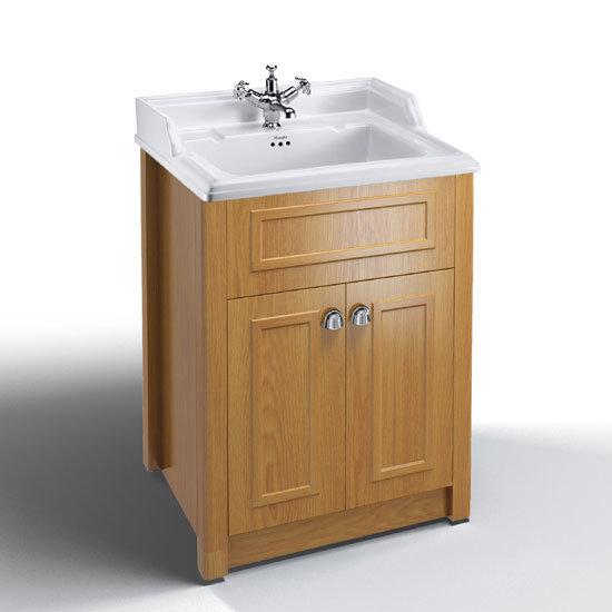 Burlington Classic 1th Basin With Vanity Unit Oak At Victorian Plumbing Uk