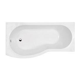 1500mm B-Shaped Left Hand Shower Bath + Legset
