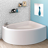 Orlando Corner Bath with Panel (Right Hand Option 1500 x 1040mm) profile small image view 1