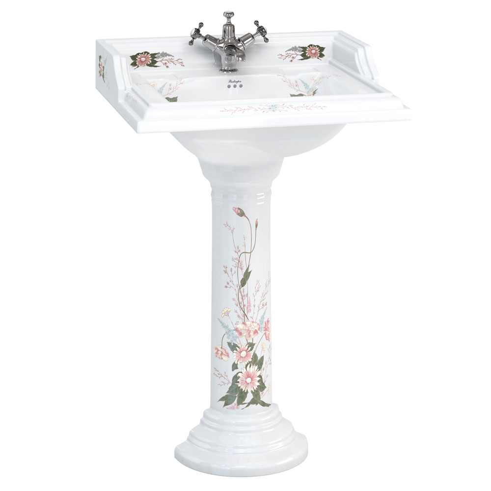 Burlington English Garden Square Basin and Pedestal Large Image
